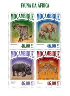 Mozambique 2013 Fauna Of Africa, Elephant ,hippo, Giraffe, Leopard - Mozambique
