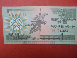 COREE(NORD) 1 WON 1988 PEU CIRCULER/NEUF - Corée Du Nord