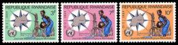 Rwanda, 1964, World Meteorological Day, WMO, United Nations, MNH, Michel 52-54A - Unclassified
