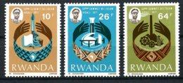 Rwanda, 1977, OCAM Conference, MNH, Michel 860-862 - Unclassified