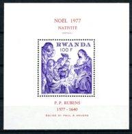 Rwanda, 1977, Christmas, Rubens Painting, MNH, Michel Block 83 - Rwanda