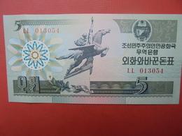 COREE(NORD) 5 WON 1988 PEU CIRCULER/NEUF - Corée Du Nord