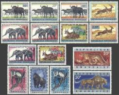 Rwanda, 1964, Monkey, Elephant, Lion, Zebra, Animals, Fauna, MNH, Michel 55-69 - Unclassified