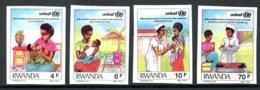 Rwanda, 1987, UNICEF, Child Welfare, United Nations, MNH Imperforated, Michel 1358-1361B - Unclassified