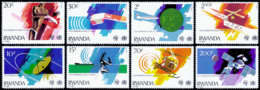Rwanda, 1981, ITU, Telecommunication, Health, WHO, United Nations, MNH, Michel 1127-1134 - Unclassified