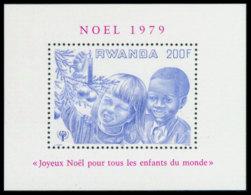 Rwanda, 1979, International Year Of The Child, IYC, United Nations, Christmas, MNH, Michel Block 87A - Rwanda