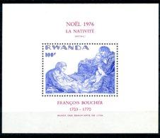 Rwanda, 1976, Christmas, Boucher Painting, MNH, Michel Block 73 - Rwanda