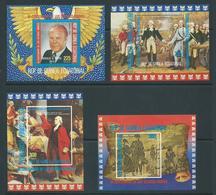 Equatorial Guinea 1975 US Bicentennial Set Of 4 Miniature Sheets MNH - Equatorial Guinea