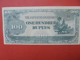 JAPON (TERRITOIRES OCCUPES 1940-45) 100 RUPEES PEU CIRCULER - Japon