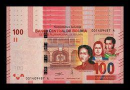 Bolivia Lot Bundle 5 Banknotes 100 Bolivianos 2018 (2019) Pick New Design SC UNC - Bolivia