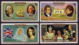 Aitutaki, 1977, Silver Jubilee, Coronation Queen Elizabeth II, Michel 254-257 - Aitutaki