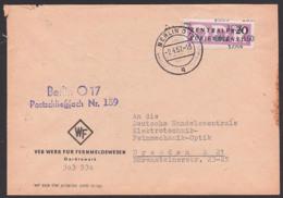 BERLIN O17 DDR ZKD B11(1602) Werk Für Fernmeldetechnik WF, Schließfach-Nr. 159, 2.4.57, Germany East - Service