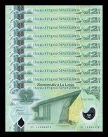 Papua New Guinea Lot Bundle 10 Banknotes 2 Kinas 2014 Pick 28d SC UNC - Papua Nuova Guinea