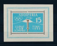 Albania, 1962, Olympic Summer Games Tokyo, Sports, MNH, Michel Block 8A - Albanien
