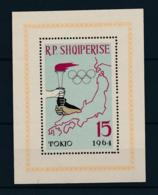 Albania, 1963, Olympic Summer Games Tokyo, Sports, MNH, Michel Block 19A - Albanien