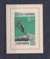 Albania, 1963, Olympic Winter Games Innsbruck, Ski Jump, Sports, MNH Imperforated, Michel Block 21 - Albanie