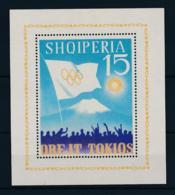 Albania, 1964, Olympic Summer Games Tokyo, Sports, MNH, Michel Block 22 - Albanien