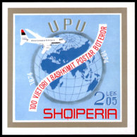Albania, 1974, Centenary Of The UPU, United Nations, MNH, Michel Block 52 - Albanien