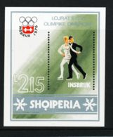 Albania, 1976, Olympic Winter Games Innsbruck, Figure Skating, Sports, MNH, Michel Block 59 - Albanien