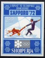 Albania, 1972, Olympic Winter Games Sapporo, Figure Skating, Sports, MNH, Michel Block 44 - Albanien