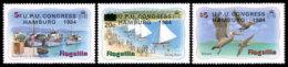 Anguilla, 1984, UPU Congress Hamburg, Universal Postal Union, United Nations, Birds, MNH, Michel 604-606 - Anguilla (1968-...)