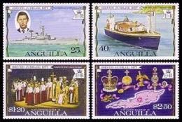 Anguilla, 1977, Silver Jubilee, Coronation Queen Elizabeth II, MNH, Michel 269-272 - Anguilla (1968-...)
