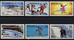 Anguilla, 1980, Olympic Winter Games Lake Placid, MNH, Michel 373-378A - Anguilla (1968-...)