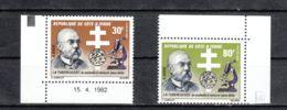 Côte D'Ivoire YT 617/8 ** : Koch , Tuberculose - 1982 - Côte D'Ivoire (1960-...)