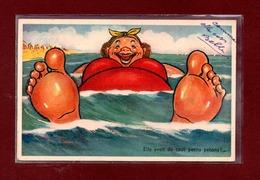 HUMOUR PLAGE - ELLE AVAIT DE TOUT PETITS PETONS !! - ARTAUD PERE ET FILS - Humour