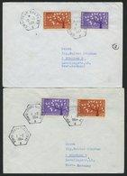 FRANKREICH 1411 BRIEF, 1964, Europa, (Michel Nr. 1411/2 Und 1450/1), 4 Verschiedene Gebrauchte Briefe Mit Schiffspostste - Frankreich