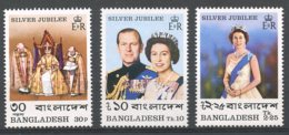 Bangladesh, 1977, Silver Jubilee Queen Elizabeth, Royal, MNH, Michel 86-88A - Bangladesh