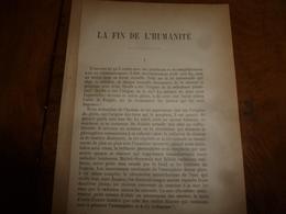 1897 LA FIN DE L'HUMANITÉ  (16 Pages) - Ohne Zuordnung