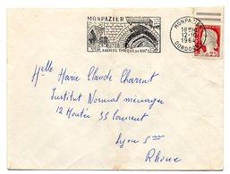 DORDOGNE - Dépt N° 24 = MONPAZIER 1964 = FLAMME Non Codée = SECAP Illustrée ' BASTIDE Typique Du XIIIe ' - Postmark Collection (Covers)