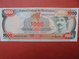 NICARAGUA 5000 CORDOBAS 1985 PEU CIRCULER/NEUF - Nicaragua