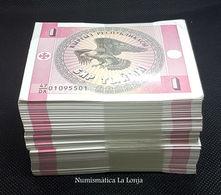 Kirguistan Kyrgyzstan Bundle 500 Banknotes 1 Tyiyn 1993 Pick 1 SC UNC - Kirguistán