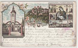 Tersat Trsat Old Postcard Travelled 1898 To Praha B190601 - Kroatië