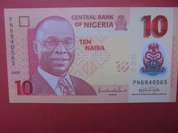 NIGERIA 10 NAIRA 2009 PEU CIRCULER/NEUF - Nigeria