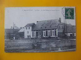 Cpa Malincourt 59 Nord Café Restaurant Lenoir Gervais - Autres Communes