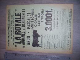 Arenes De Beaucaire Affiche 22 X 31 Cm Course Camarguaise , Royale Manade Aubanel De Baroncelli 23 Avril 1939,cocardes - Posters