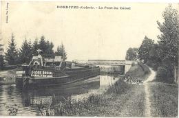 CPA Dordives Le Pont Du Canal Péniche - Dordives