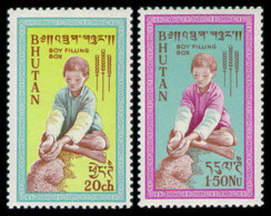 Bhutan, 1963, Freedom From Hunger, FAO, United Nations, MNH, Michel 17-18 - Bhoutan