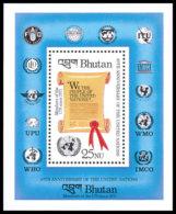 Bhutan, 1985, United Nations, ITU, UNICEF, MNH, Michel Block 122 - Bhoutan