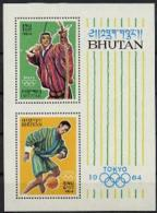 Bhutan, 1964, Olympic Summer Games Tokyo, Sports, MNH Perforated, Michel Block 1C - Bhoutan