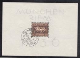 BLOCK FEUILLET N° 4 OBLITERE  MUNCHEN - RIEM LE  26-7-1936 - Deutschland