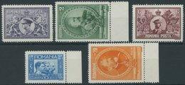 RUMÄNIEN 397-401 **, 1931, 50 Jahre Königreich Rumänien, Postfrischer Prachtsatz, Mi. 80.- - Rumänien