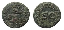 [H] +++ AE Quadrans - CLAUDIUS I. - RIC² 85 - Scales +++ - 1. Die Julio-Claudische Dynastie (-27 / 69)