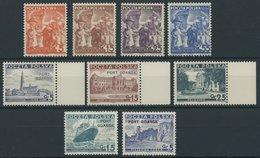 PORT GDANSK 29-37 **, 1936-38, 3 Postfrische Prachtsätze, Mi. Nr. 31 Platte II, Mi. 109.- - Danzig