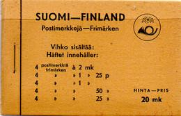 PIA - FINLANDIA  - 1937 : Carnet Di 25,00 Mk Con Francobolli Di Uso Corrente Leone Rampante   - (Yv C192) - Nuovi