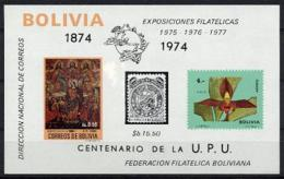 Bolivia, 1974, Centenary Of The UPU, United Nations, Orchids, MNH, Michel Block 45 - Bolivia