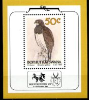 Bophuthatswana, 1989, Eagle, Birds, Animals, Fauna, MNH, Michel Block 4 - Bophuthatswana